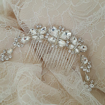 Wedding Hair Accessories Bridal Hair Comb Bride Bridesmaid Silver Butterfly