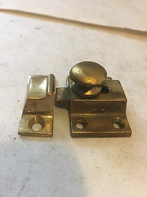 Old Antique Cast Brass  Arts Craft Victorian Cabinet Cupboard Door Latch Lock
