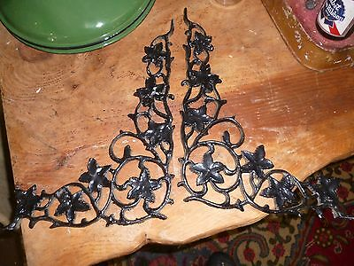 Victorian Style Cast Aluminium Pair Metal Shelf Brackets