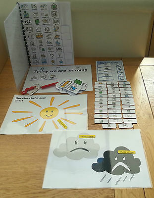 SCHOOL VISUAL PACK WITH BEHAVIOUR CHART  autism/SEN/speech delays/ASPERGERS
