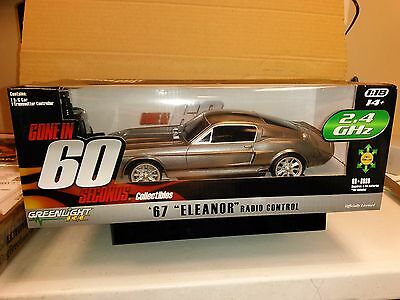 Greenlight 1:18 R/c 1967 Ford Mustang Eleanor  Gone In Sixty Seconds 91001