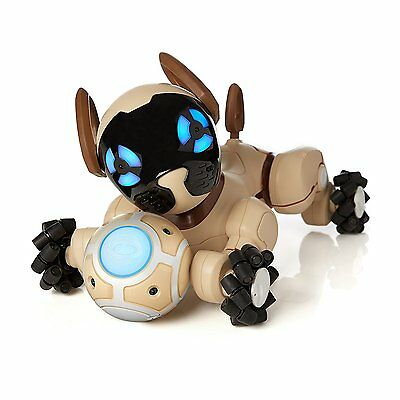 New WowWee CHiP Robot Pet Dog, Smart Lovely Trainable, Chocolate +90day WARRANTY