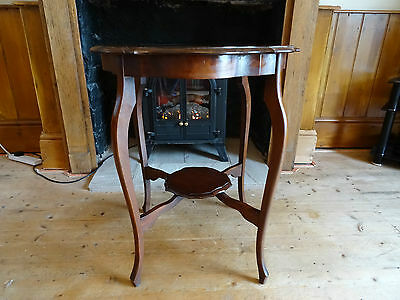 Pretty Antique Edwardian Pie-Crust Edge Occasional Table - Mahogany Finish