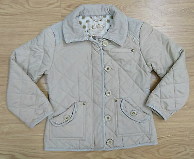 Next Girls Brown Quilted Fleece Winter Jacket Coat Age 7-8 Years