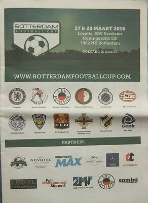 ROTTERDAM FOOTBALL CUP 2016 Inc CHELSEA NORTHERN IRELAND  Newspaper style issue