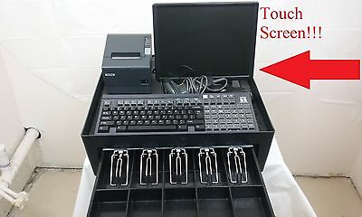 Portable Touch Screen Full Cash Register Point Of Sale, Scnr with POS Software