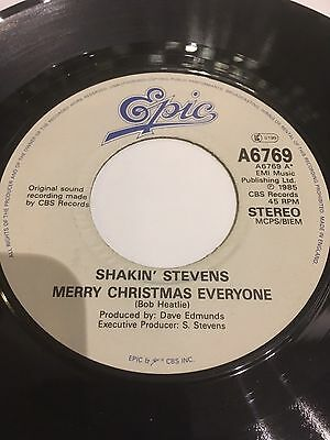 """Shakin' Stevens Jukebox Ready 7"""" Merry Christmas Everyone / With My Heart A6769"""