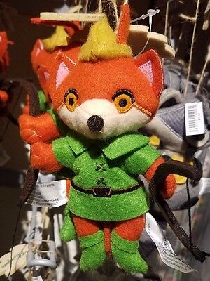 Disney Parks Robin Hood Plush Christmas Holiday 2016 Ornament