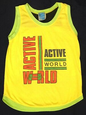 kids streets ahead vest - retro - top - age 10 to 11 years - vintage - yellow