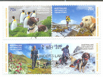 Australian Antarctic Territory-Dogs of macquarie Island-cto-fine used set-2015