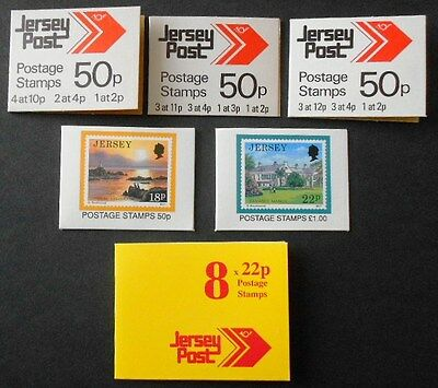 Jersey - 6 sachet Booklets - Arrows, Scenes collection, mint condition