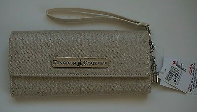 NWT Disney Kingdom Couture Collection Linen Wallet Retail $58