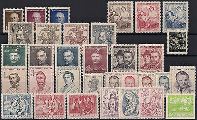 Czechoslovakia 1948, Complete Year Set Stamps, **mnh**