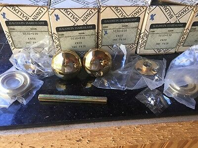 8 Sets Baldwin Hardware 5030-030 ~~Beautiful Polished Gold~~