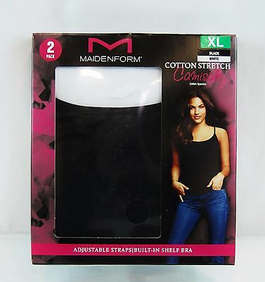 Maidenform 2- Pack Cotton Stretch Camisole
