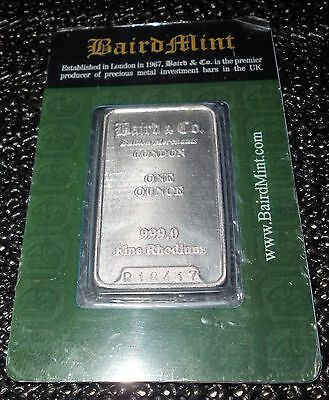 Fine Rhodium Bar, Barren 1 Troy Oz 999, Safebag Sealed, noch mit Schutzfolie!