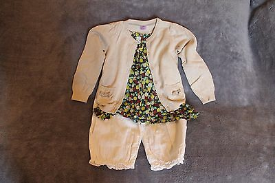Gorgeous Age 4 5 Girls Outfit F&F Zara Next Cardigan Top Trousers