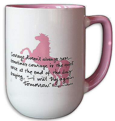 Courage Doesn't Always Roar- I Will Try Again Tomorrow Horse Lover's Mug