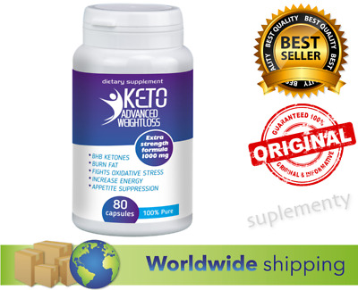 KETO Advanced Weight Loss Diet Pills 80 caps Ketosis Fat Burn & Carb