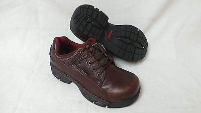 New Wolverine Womens Ayah Oxford Work Shoes Style W02674 Brown