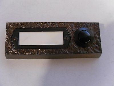 Bronze Door Bell Push Button with Name Tag Germany 6 oz heavy