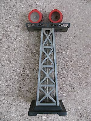 """Vintage MARX TRAINS Light Tower Electric 13"""" Tall Plastic & Metal Construction"""