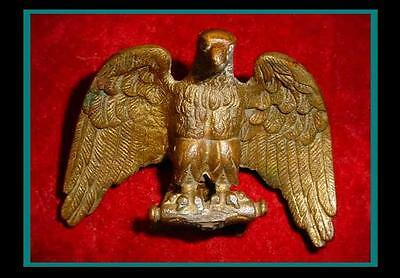 FANTASTIC Antique GILDED Bronze / Brass ROMAN EMPIRE Style EAGLE Standard Finial