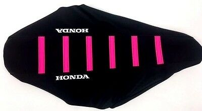 New PINK HONDA Ribbed Seat Cover CR125 1995-97, CR250 1995-96, CR 250R 125R