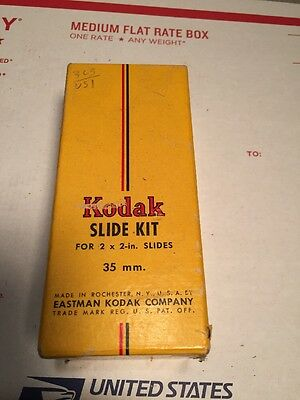 KODAK- SLIDE KIT - 100 SLIDE GLASSES WITH ACCESSORIES (stickers & mask)