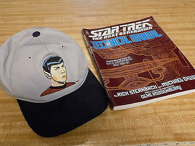 Star Trek:The Next Generation Technical Manual & Spock Baseball Hat  NoRsv L@@K!
