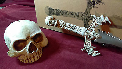 "Skull 15"" knife Halloween collectible sharp dagger knife with Skull head"
