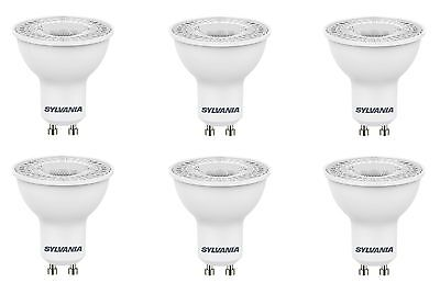 6x Sylvania RefLED ES50 V4 5W GU10 LED non-dimmable light bulb lamp 865 daylight