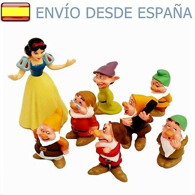 Blancanieves y los 7 enanitos  ♦ Set de 8 Figuras ♦ Seven Dwarfs and Snow White
