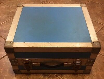 Vintage Metal/Wood Suitcase Equipment/ Instrument Skates Carrying Hard Case