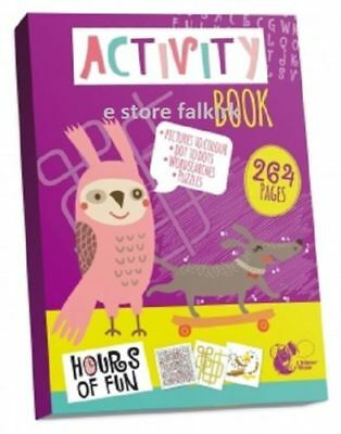 300 Pages Really Big A4 Activity Book Children Pre School Kids Colouring Gift