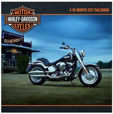 Harley Davidson Motor Cycles 2017 Wall Calendar 16 Month NEW SEALED FULL SIZED