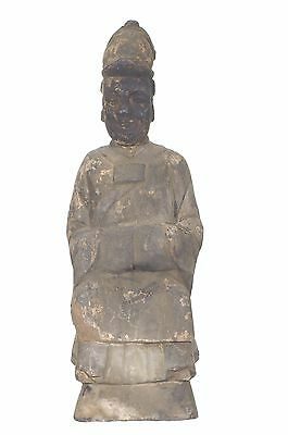 Antique Chinese Wood Carving Statue Figure / Ancestor Deity, Qing Dynasty, 18c