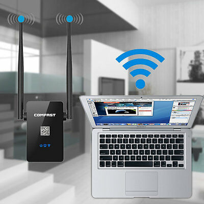 Wireless Repeater 300Mbps Network Router WiFi Signal Range Extender NEW H1