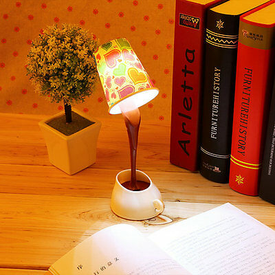 Creative USB Pour Coffee Lamp LED DIY Table Lamp Night Light Bedside Lamp F5