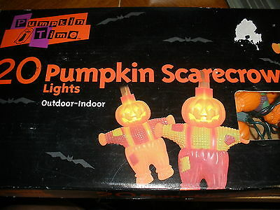 20 Pumpkin Time Scarecros Lights outdoor indoor tested ALL work