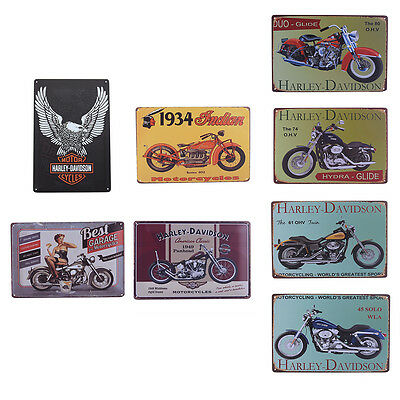Vintage Retro Motorcycle Style Metal Tin Sign Bar Pub Cafe Wall Poster Plaque