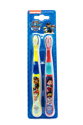 Paw Patrol Twin Pack Toothbrush Brushes For Children Kids Cartoons Character