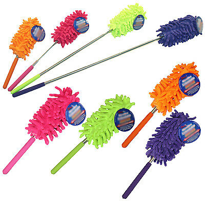 Microfibre Cleaning Feather Duster Extending Brush Extendable Telescopic Tool