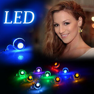 LED Party Flashing Lighting up Earrings Blink Studs Xmas Dance Ball Glow Jewelry