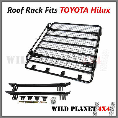 Roof Rack Basket Fits TOYOTA Hilux Powder Coated Steel 4wd Luggage Carrier Trade