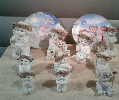 Lot Of 10 Dreamsicles Figurines and 2 Dreamsicles Plates