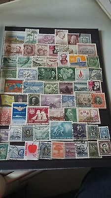 60 timbres du Chili (Lot 16)
