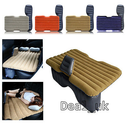 Car Mattress Inflatable Air Bed Back Rear Seat Sleep Rest Cushion Multi Color