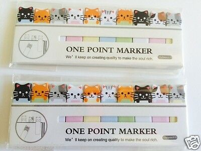 CUTE CATS PAPER STICKY NOTE BOOK MARKER PAD 100% Helps Cat ResQ