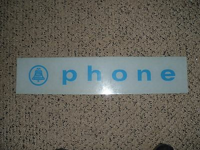 Vintage Glass Telephone Bell Systems Phone Booth Sign Very Rare